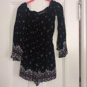 Other - Long sleeve off the shoulder dress romper